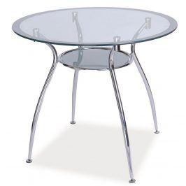 Jídelní stůl FINEZJA A, sklo/stříbrná