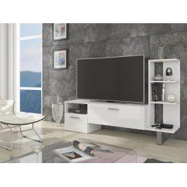 MORAVIA FLAT BEST televizní stolek, bílá/bílý lesk