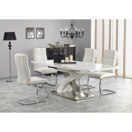 Jídelní stůl rozkládací SANDOR-2, 160/220x90 cm, bílý Jídelní stoly