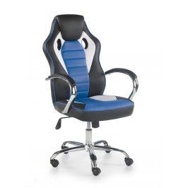Kancelářské křeslo SCROLL, černá/bílá/modrá