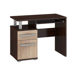ANGEL PC stůl 1D1S, dub sonoma tmavý/dub sonoma