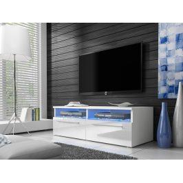 Smartshop Televizní stolek RTV 6, bílá/bílý lesk