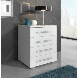 Smartshop Televizní stolek RTV 10, bílá/bílý lesk