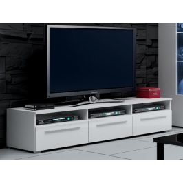 Smartshop ROMA RTV stolek 150, bílá/bílý lesk