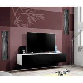 Smartshop RTV stolek závěsný 100 X-FINITY, bílá/černý lesk