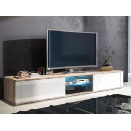 TV stolek HIT, dub sonoma/bílý lesk