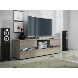 MORAVIA FLAT GLOBAL 2 televizní stolek, dub sonoma