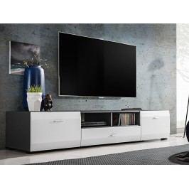 Smartshop CLIF televizní stolek RTV, grafit/bílý mat