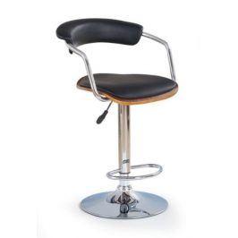 Barová židle ZH-19, ořech/černá
