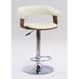 Barová židle ZH-12, ořech/béžová