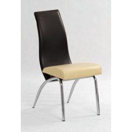 Židle K-2, béžová/hnědá