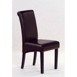 Jídelní židle NERO, wenge/tmavě hnědá