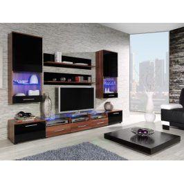CAMA II, obývací stěna, švestka/černý lesk
