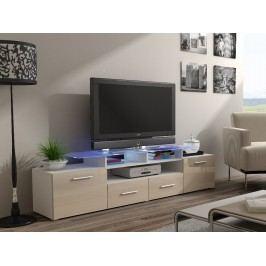CAMA Televizní stolek RTV EVORA, bílá/krémový lesk