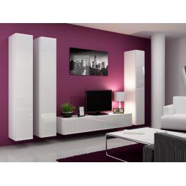 Obývací stěna VIGO 1, bílá/bílý lesk