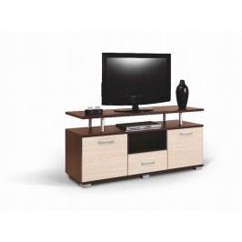 MATIS TV stolek LUNA, wenge/bělený dub