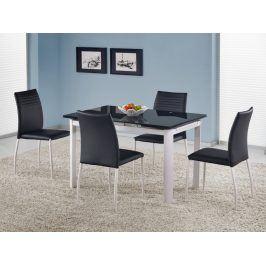 Halmar Jídelní stůl rozkládací ALSTON, černá/bílá