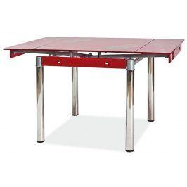 Jídelní rozkládací stůl GD-082, červený