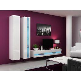 Obývací stěna VIGO NEW 5, bílá/bílý lesk