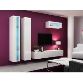 Obývací stěna VIGO NEW 2, bílá/bílý lesk