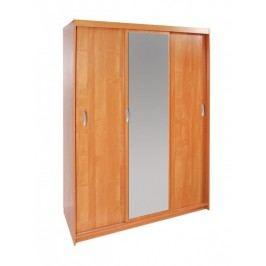 MORAVIA FLAT Šatní skříň HALL 150 se zrcadlem, barva: