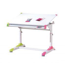 Dětský psací stůl 2 Colorido bílá/zelená/růžová