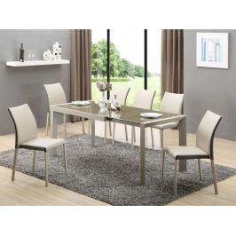Jídelní stůl rozkládací ARABIS,  kov/sklo