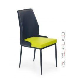 Židle K-199, černá-zelená