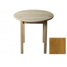 MAGNAT Stůl  průměr 70 cm nr.3, masiv borovice/moření dub
