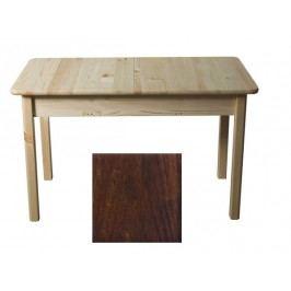 MAGNAT Stůl 120/155 x 75 cm nr.8, masiv borovice/moření ořech