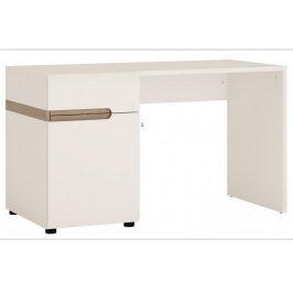 LINATE/80, psací stůl, alpská bílá/trufla