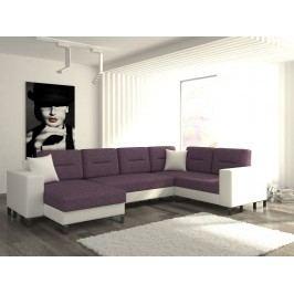 ELTAP Rohová sedačka DORADO 12 levá, fialová látka/bílá ekokůže