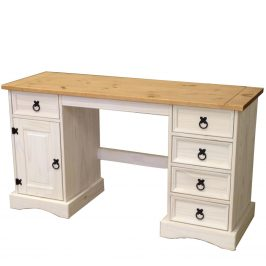 Psací stůl CORONA bílý vosk Psací stoly
