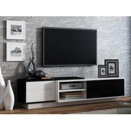 Televizní stolek RTV SIGMA 1A, bílá/černá