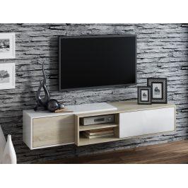 Televizní stolek RTV SIGMA 1D, dub sonoma/bílá Stolky pod TV