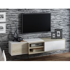 CAMA Televizní stolek RTV SIGMA 1D, dub sonoma/bílá