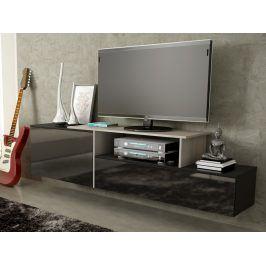 CAMA Televizní stolek RTV SIGMA 3D, dub sonoma/černá