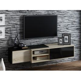 CAMA Televizní stolek RTV SIGMA 1C, dub sonoma/černá