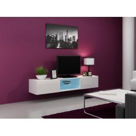 CAMA Televizní stolek VIGO SKLO, bílá/bílý lesk