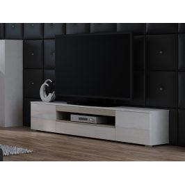 CAMA Televizní stolek RTV VIVA, bílá/dub sonoma