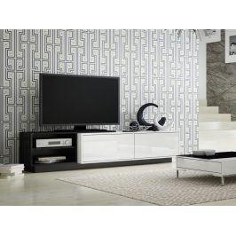 CAMA Televizní stolek RTV SIGMA 2B, bílá/černá