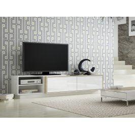 Televizní stolek RTV SIGMA 2C, bílá/dub sonoma