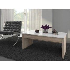 MORAVIA FLAT Konferenční stolek INDILA, dub sonoma/bílý lesk