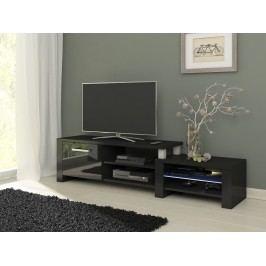 MORAVIA FLAT TV stolek ORION, černá/černý lesk