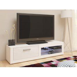 TV stolek VIKI NEW, bílá/bílý lesk