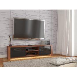 TV stolek HELIX NEW, švestka wallis/černý lesk