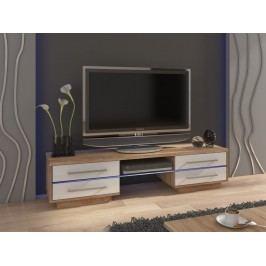 MORAVIA FLAT TV stolek LAGUNA, dub sonoma/bílý lesk