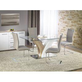 Halmar VILMER jídelní stůl, dub sonoma/bílá