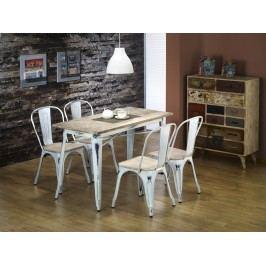 Halmar MAGNUM jídelní stůl, retro bílá
