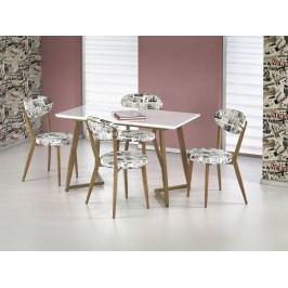 Halmar FIERO jídelní stůl, bílá/dub medový